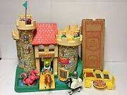 Vintage 1970's Fisher Price Family Play Castle Complete Rare Furniture