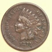 1874 Indian Head Cent - Extra Fine - 35238