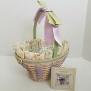 Longaberger 2004 White Washed Easter Basket Set18th Editionsold Feb 2004 Only