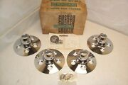 Vintage 1960and039s 1970and039s 1980and039s Nos Cragar Chrome Hub Covers Ford Mopar Amc Set-4
