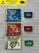 Pokemon Emerald And Ruby And Sapphire Version Bundle With Manuals Tested