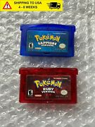 Pokemon Ruby And Sapphire Version Bundle Loose Games Gba Clnd And Tstd
