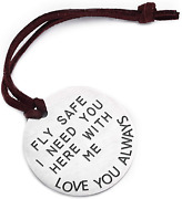 Lparkin Fly Safe I Love You I Need You Here With Me Keychains You Carry My Heart