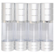 Airless Pump Bottle Empty Refillable 1oz Cosmetic Container Set Of 4 Travel L