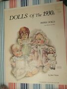 Pair Of Vintage Paper Dolls- Dolls Of The 1930s And Antique German Bisque