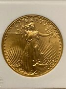 1913-d St. Gaudens 20 Gold Double Eagle In Ngc Ms62