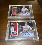 2016 Topps The Mint Mike Trout Autograps 08/75 And 15/75 With Mlb Hologram.