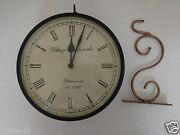 Vintage Style Large Imperial 2 Sided Battery Powered Train Railway Wall Clock