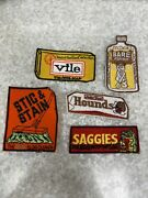 1974 Topps Wacky Packages Patches Set Of 5 Unsown Nos Rare Saggies Vile Funny