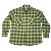 Dixxon Flannel Company End Of Days Lone Wolf Green Long Sleeve Shirt Size 2xl
