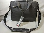 Brand New With Tags Tumi Arrive Fairbanks Sawyer Briefcase Black Htls Polyester