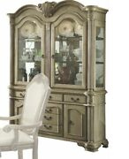 Acme Chateau De Ville Hutch And Buffet In Antique White Finish 64069