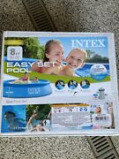 New☀️💦intex 8'x24 Easy Set Round Above Ground Pool And Filter Pump No Pr