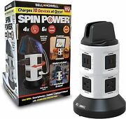 Bell And Howell Spin Power Ultimate Deluxe Charging Station New