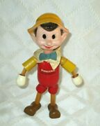 1939-ideal- Walt Disney Pinocchio Wood Jointed Doll-8 All Org Antique Toy