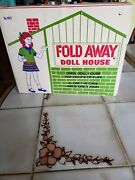 Antique Fold Away Doll House Toys Rare Dolls No 1610 Vintage Collectible