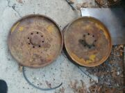 Vintage Ohio Buckeye Flndlay Brake Drum From Old Tractor With Cable Wrench