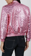 Quilted Metallic Leather Jacket-with Tags- Rrp6200 Aud