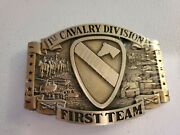 Belt Buckle 1st Cavalry Division First Team American Outriders