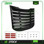 Rear Window Louver Cover Sun Shade Vent For 15 16 17 18 19 20 Ford Mustang Abs