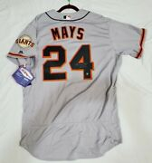 Authentic 48 Xl Willie Mays San Francisco Giants Holo Signed Hof 79 Jersey