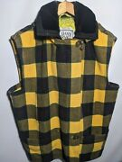 Rare Vintage Gianni Versace Wool Flannel Vest Quilted Yellow Medusa Buttons