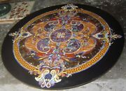 48 Inches Stone Work Dining Table Top Round Marble Hallway Table Home Furniture