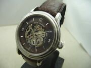 Revue Thommen Manufacture Steel Watch Skeleton Dial Autom- New Box And Papers
