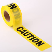 Caution Party Tape Building Dig Truck Birthday Decoration Builder Yellow Black