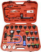 28pc Radiator Pressure Compression Tester And Vacuum Purge And Refill Kit Universal