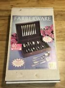 Farberware Madison Gold Accent Stainless 44 Piece Set Never Used