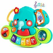 Witalent Baby Piano Toy 6 To 12 Months Elephant Light Up Music Toys For Infant 6