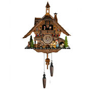 Grand Black Forest Chalet With Bell Tower Quartz Cuckoo Clock
