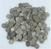 1942-1945 Silver War Nickels Lot Of 500 Coins P D S