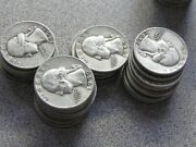 Full Dates Roll Of 40 10 Face Value 90 Silver Washington Quarters In 50's