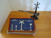 Vintage Lionel Train Railroad Crossing Sign And Metal Signs 308