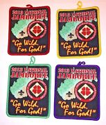 Full Set Of 4 Churches Of Christ Patches 2013 National Boy Scout Jamboree Mint