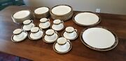 Mikasa Royal Glimmer8 Five Piece Place Settings Plus 2 Round Platters.