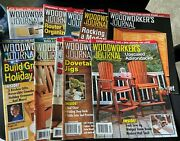 Woodworkers Journal Lot Of 10 Magazines Dated From 2018 - 2021 Item W-6