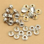 Canvas Snap Fasteners Cover Leathers Set Silver 30pcs Boat Fabric Practical