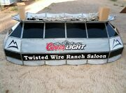 Man Cave Twisted Wire Ranch Saloon Leaded Glass Pool Table Coors Beer
