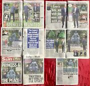 Princess Diana Statue Unveiled William Harry Uk Newspaper Clippings Cuttings L1
