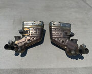 Genuine Porsche 911 Gt3rs Side Mufflers Left Right Pair Factory 99111104781
