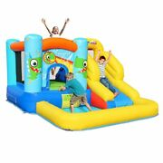 Inflatable Baby Dinosaur Bounce House With Slide Playground Bouncer Castle W/ Ba