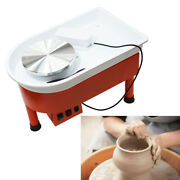Andphi9.5andrdquo Electric Pottery Wheel Drawing Machine Clay Art Work Forming Machine 110v
