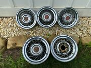 Set Of 5 Wire Wheels And 4 Hubcaps For 1953-1954 Cadillac Eldorado