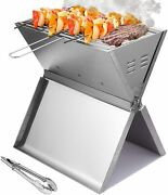Portable Charcoal Grill Small Folding Bbq Grill Stainless Steel Usa Store F/sip