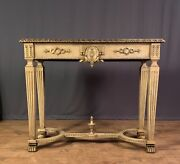Nineteenth Century Italian Paint And Parcel Gilt Console Table