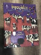 Bepuzzled Impossibles Cow Country 750 + 5 Pieces Jigsaw Puzzle New Sealed