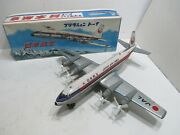 Japan Airlines Lockheed Electra With Turning Props Friction Mib Made N Japan